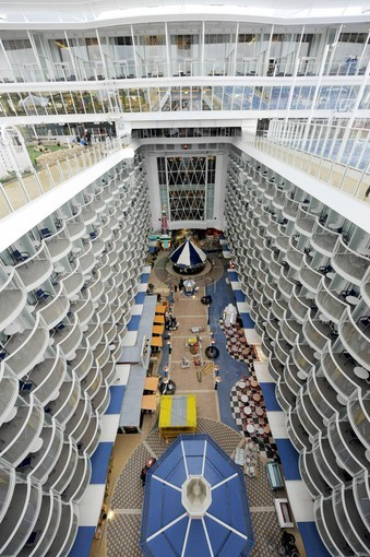 Pictures: The most unique cruise ship features - Royal Caribbean Allure of the Seas -- atrium