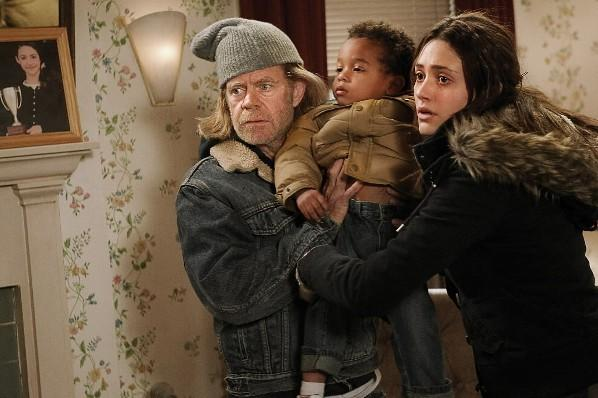 "William H. Macy (left) and Emmy Rossum (right) in Showtime's ""Shameless."""