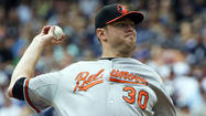 Orioles right-hander Chris Tillman, who left Sunday's 8-3 win over the Yankees in New York after the third inning with right elbow stiffness, will leave the team and return to Baltimore to have an MRI on Monday.