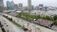 Grand Prix party guests enjoy the high life with views