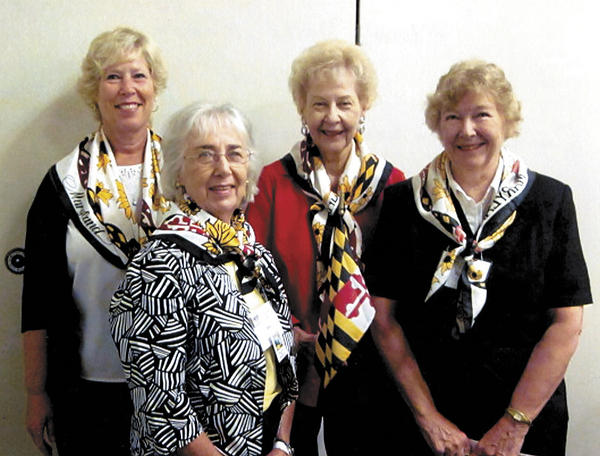 From left, Cathy Grantham, state treasurer; Bev Kriner, Sigma Chapter president; Patricia Leonard, Potomac District co-president; and Nina Wells, past Sigma Chapter president.