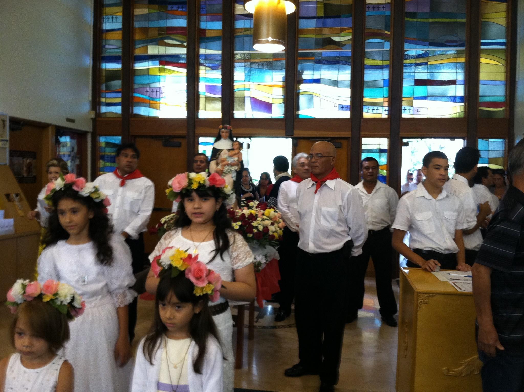 En la Iglesia St. Andrew en Coral Springs