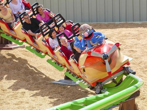 Air Grover is a new roller coaster that's designed to accommodate both children and adults.