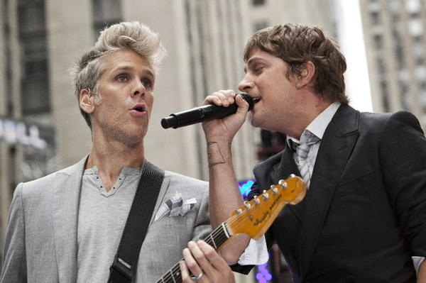 "The band Matchbox 20 performs on NBC's "" Today"" show in New York, September 3, 2012."