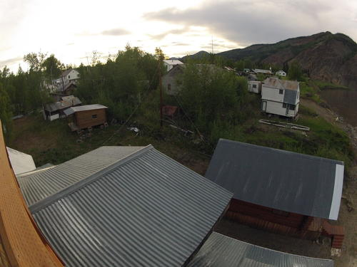 Looking out at the town of Eagle, Alaska.