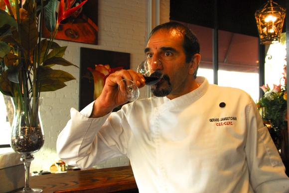 Gerard Jamgotchian, the executive chef of L'Eden Restaurant & Bar, at his downtown Tampa establishment.