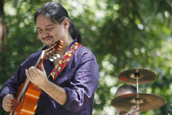 Incendio's J.P. Duran performs at Descanso Gardens in La Canada on Monday, September 3, 2012.