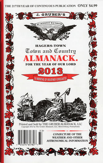 2013 Hagers-Town Town and Country Almanack