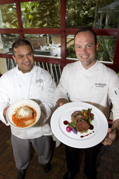 Chef Erick Miranda, left, and Chef Brian Schuyler promote Flavor Palm Beach's fifth annual month-long dining event, which takes place through September and benefits Share Our Strength. Some of the participating restaurants include: Seasons 52, Morton's The Steakhouse and Capital Grille. For dates and venues, visit www.FlavorPB.com. To see more photos from Society Scene's Palm Beach edition, visit www.Facebook.com/SocietyScene.