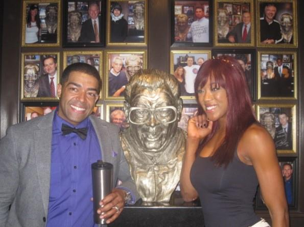 WWE's David Otunga and Alicia Fox at Harry Caray's Tavern at Navy Pier September 3, 2012.