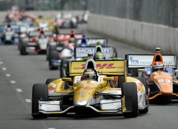 Car #28, Ryan Hunter-Reay, wins the 2012 Grand Prix of Baltimore.