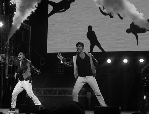 Big Time Rush concert, with Cody Simpson and Leon Thomas III