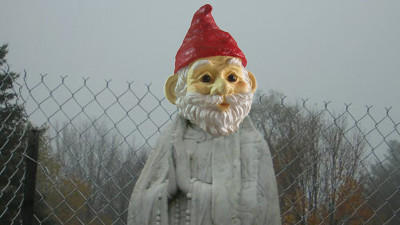 Crime & Punishment: Someone Smashed the Head of a Virgin Mary Statue and Replaced it With a Garden Gnome