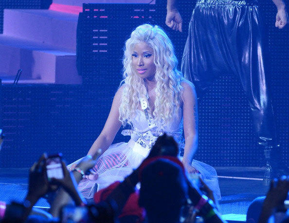 Nicki Minaj performs at Pepsi Presents Nicki Minaj's Pink Friday Tour at Roseland on August 14, 2012 in New York City.