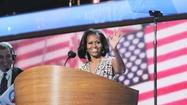 CHARLOTTE, N.C. (AP) — Michelle Obamararely mentions Mitt Romneyby name. But everything she says during this presidential campaign is meant to draw a contrast between her husband and his Republican challenger.