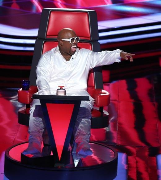 TV's singing competitions: How would they fare on the charts?: Judges: Christina Aguilera, Blake Shelton, Adam Levine, Cee Lo Green   The Voice was a surprise hit for NBC -- and any show that gives Cee Lo an excuse to break out the supervillan cat is something to treasure. But it doesnt have the drawing power of Idol or even X-Factor. Think of it as Regina Spektor or Cat Power -- great indie singers, but not household names.