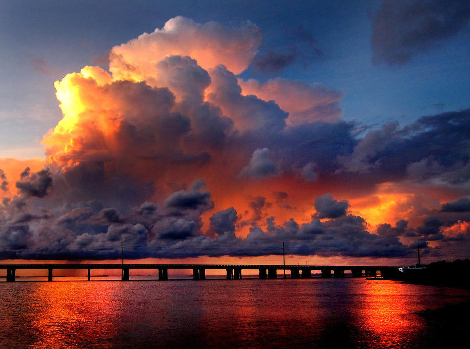 Storm Clouds Provide A Dramatic Scene At Sunset At The