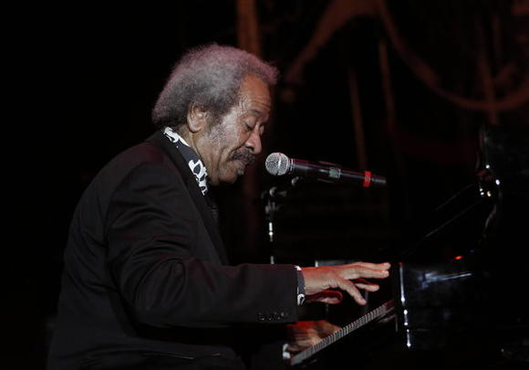 Allen Toussaint performing in the Chicago Jazz Festival at Petrillo Music Shell on Sunday.