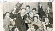 1940: George Halas and Co. celebrate a division title