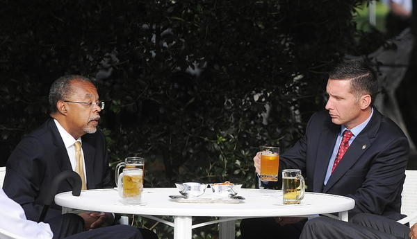 "President Obama hosts a ""beer summit"" with Vice President Biden, Harvard scholar Henry Louis Gates Jr. and Massachusetts police Sgt. James Crowley at the White House on July 30, 2009. The summit came in a response to a dispute over racial profiling."