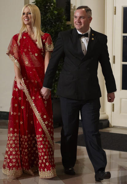 One-time reality stars Tareq and Michaele Salahi arrive at a State Dinner to honor India's Prime Minister on Nov. 24, 2009. The apparent party crashing set off a furor over security breaches.