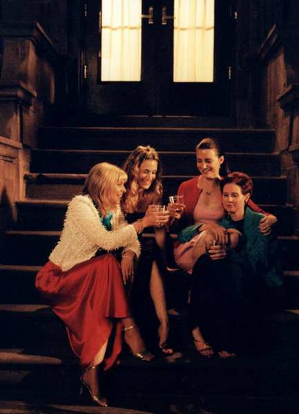 "Kim Cattrall, left, Sarah Jessica Parker, Kristin Davis and Cynthia Nixon in ""Sex and the City."""