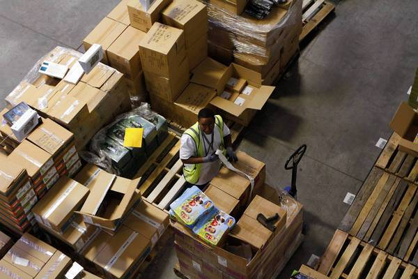 Amazon.com won't say whether sales to California customers have spiked in recent weeks because it is set to begin collecting sales taxes on purchases in the state Sept. 15. Above, an Amazon fulfillment center in Phoenix.
