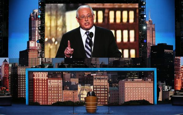 Illinois Gov. Pat Quinn speaks during day one of the Democratic National Convention at Time Warner Cable Arena in Charlotte, N.C.