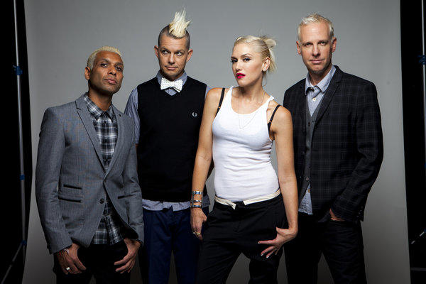 No Doubt -- Tony Kanal, left, Adrian Young, Gwen Stefani and Tom Dumont -- is coming to the Gibson Amphitheatre.