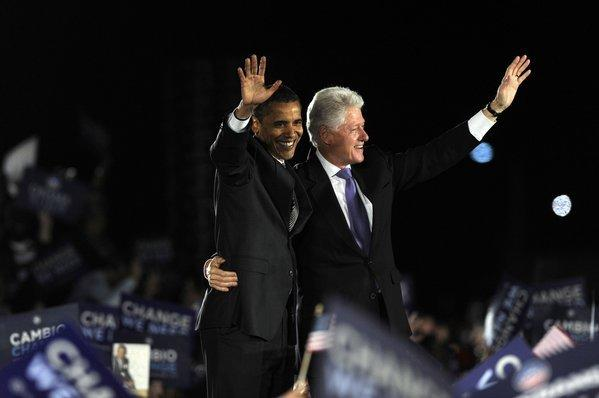 Obama and Clinton