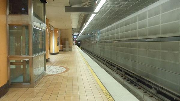 The Metro Red Line subway station in North Hollywood was shut down after a train hit a pedestrian.