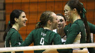 Derby volleyball sweeps home triangular