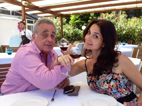 Eduardo Elejalde and daughter Alexia Elejalde-Ruiz exploring Sicily from a wine glass.