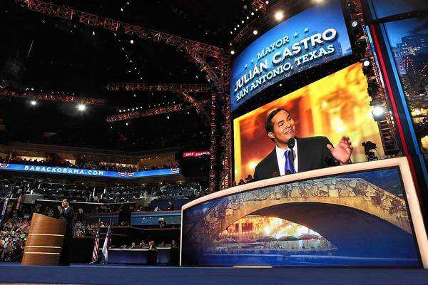 "San Antonio Mayor Julian Castro gave the keynote speech at the Democratic National Convention in Charlotte, N.C. He said America is ""a place where great journeys can be made in a single generation."""