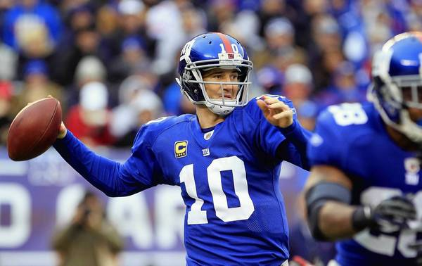 New York Giants quarterback Eli Manning broke team records for yardage and playoff touchdowns last season. He has led the Giants to two Super Bowl titles.