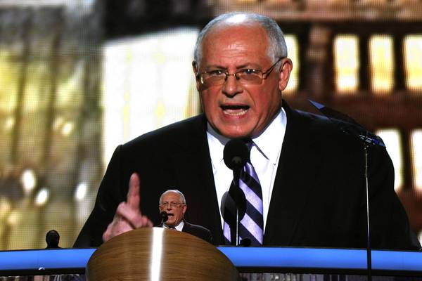 Gov. Pat Quinn speaks at the Democratic National Convention at Time Warner Cable Arena in Charlotte, N.C.