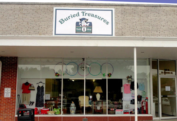 Buried Treasures Thrift Shop, in the Hill Dale Shopping Center at 116 Augustine Ave., Unit 46, Charles Town, W.Va., operates solely to support the Briggs Animal Adoption Center and Spay Today.