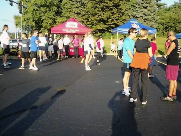 Registration at last year's annual 5K, which began about 5 years ago when some members of the Homer Founders Club decided to get together to go for a fun run prior to the club's annual 9-11 ceremony.