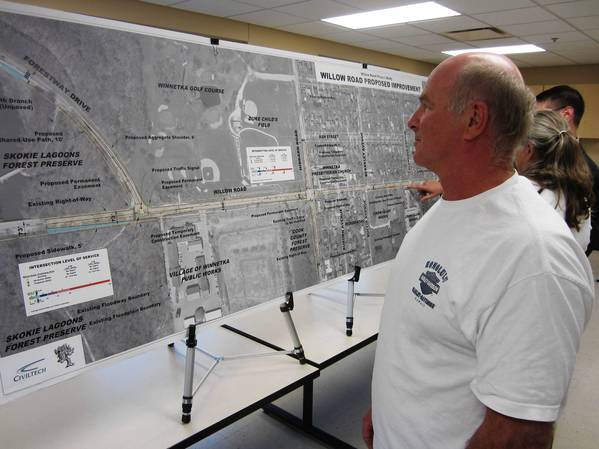 Winnetka resident, Don Smith, was at a recent public hearing and said he's concerned how construction on Willow Road could impact the village.