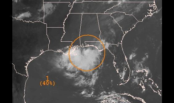A disturbance near Pensacola was given a medium chance of developing as of Wednesday afternoon.