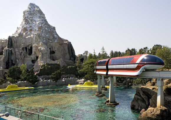 Disneyland -- Matterhorn, Monorail and Submarine Voyage