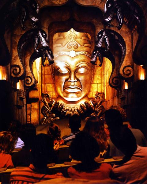 Indiana Jones Adventure -- Temple of the Forbidden Eye opened in 1995. Images from Disneyland, the original Disney theme park at Disneyland Resort in Anaheim, California.