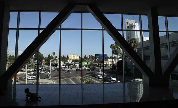 The centerpiece of the enormous Baldwin Hills Crenshaw Plaza is the 1947 Macy's building. The shopping center, at the intersection of Martin Luther King Jr. and Crenshaw boulevards, was given new life with a $35-million upgrade.