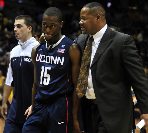 Barring some unforeseen change by the Big East or the NCAA, UConn's season will end March 9 with the home game vs. Providence and old friend Andre LaFleur, right. LaFleur, the former UConn assistant, is in his second year on the Friars' staff.