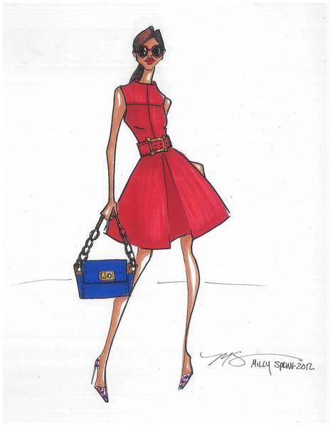 A sketch from Michelle Smith, who designs for Milly.