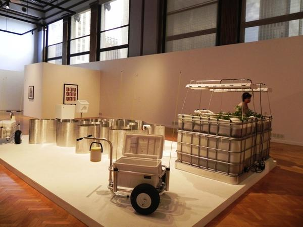"Installation view of ""Industry of the Ordinary: Sic Transit Gloria Mundi"" at Chicago Cultural Center."