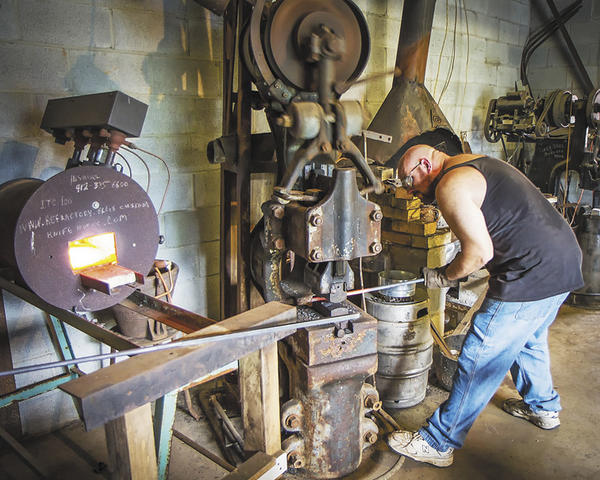 Joe Scheerer of Keedysville is owner of Moonshine Forge Blacksmith Shop. He will demonstrate blacksmithing at Boonesborough Days on Saturday, Sept. 8, and Sunday, Sept. 9.