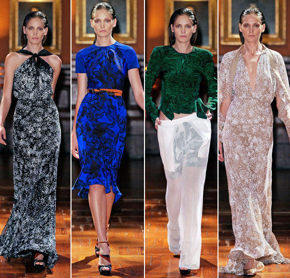 Looks from the Juan Carlos Obando spring - summer 2013 collection shown during New York Fashion Week.
