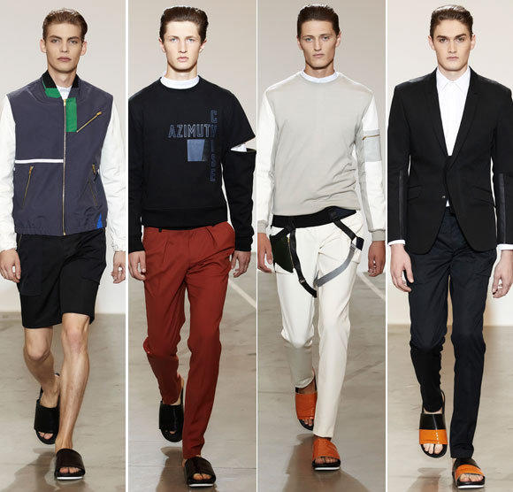 Looks from the Tim Coppens spring - summer 2013 collection shown during New York Fashion Week.