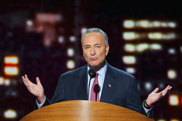Sen. Charles Schumer (D-N.Y.) speaks during Day 2 of the Democratic National Convention in Charlotte, N.C.